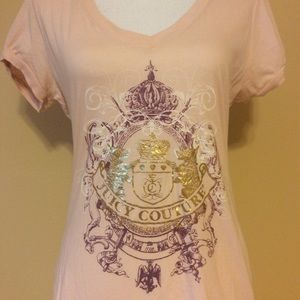 Juicy Couture Shirt  Pink Gold Large